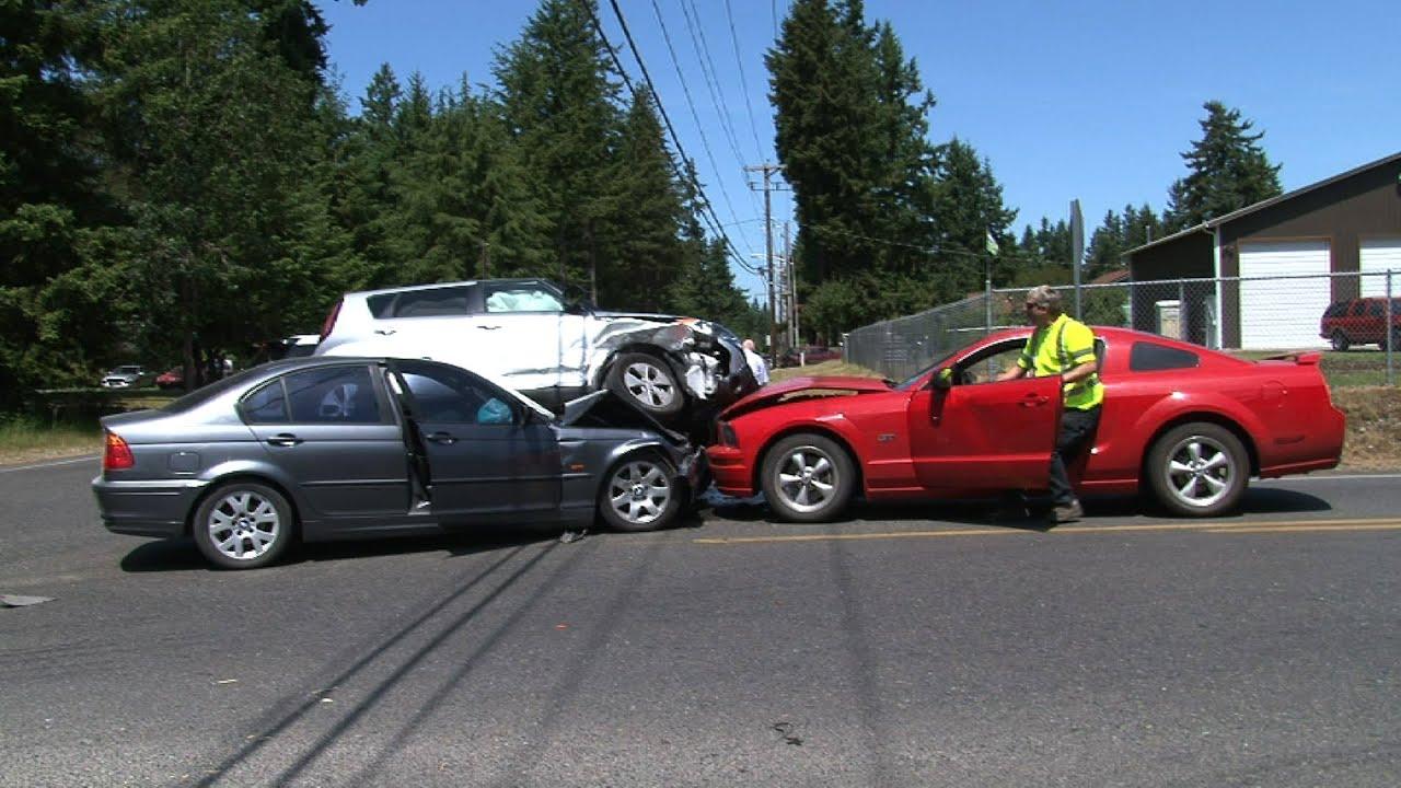 Three Car Accident 192nd St East & B St East Spanaway WA
