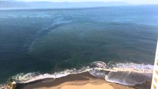 Ocean waves in fast motion time lapse.