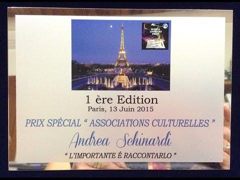 """Premio letterario """"World Literary Prize"""" - Parigi 13 giugno 2015"""