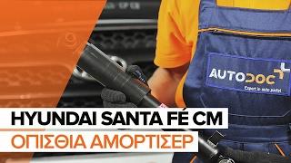 Τοποθέτησης Αμορτισέρ πίσω HYUNDAI SANTA FÉ II (CM): δωρεάν βίντεο