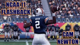 CAM NEWTON COLLEGE FLASHBACK | NCAA FOOTBALL 11 GAMEPLAY