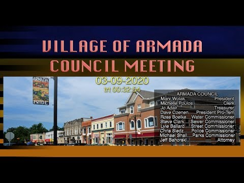VILLAGE OF ARMADA COUNCIL MEETING (03-09-2020)