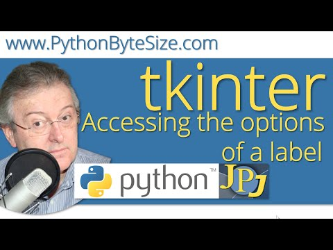 How to access the options of a Python tkinter label - YouTube