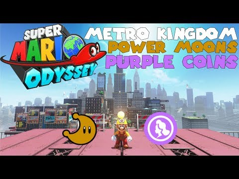 "Super Mario Odyssey | Part 18 ""Metro Kingdom Power Moons and Purple Coins"""