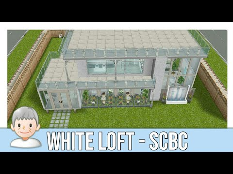 SpeedBuild: White Loft (SOLID COLOR BUILD CHALLENGE / SCBC)   Sims Freeplay
