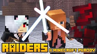 "Minecraft Song and Videos ""RAIDERS"" - MINECRAFT PARODY OF CLOSER BY THE CHAINSMOKERS (Lyrics)"