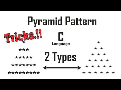 Pyramid Pattern with star ( Bangla )   C language