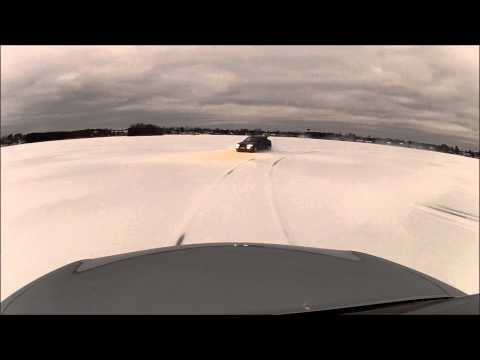 Jaguar X-type And Escort Cosworth High Speed Drifting On Ice