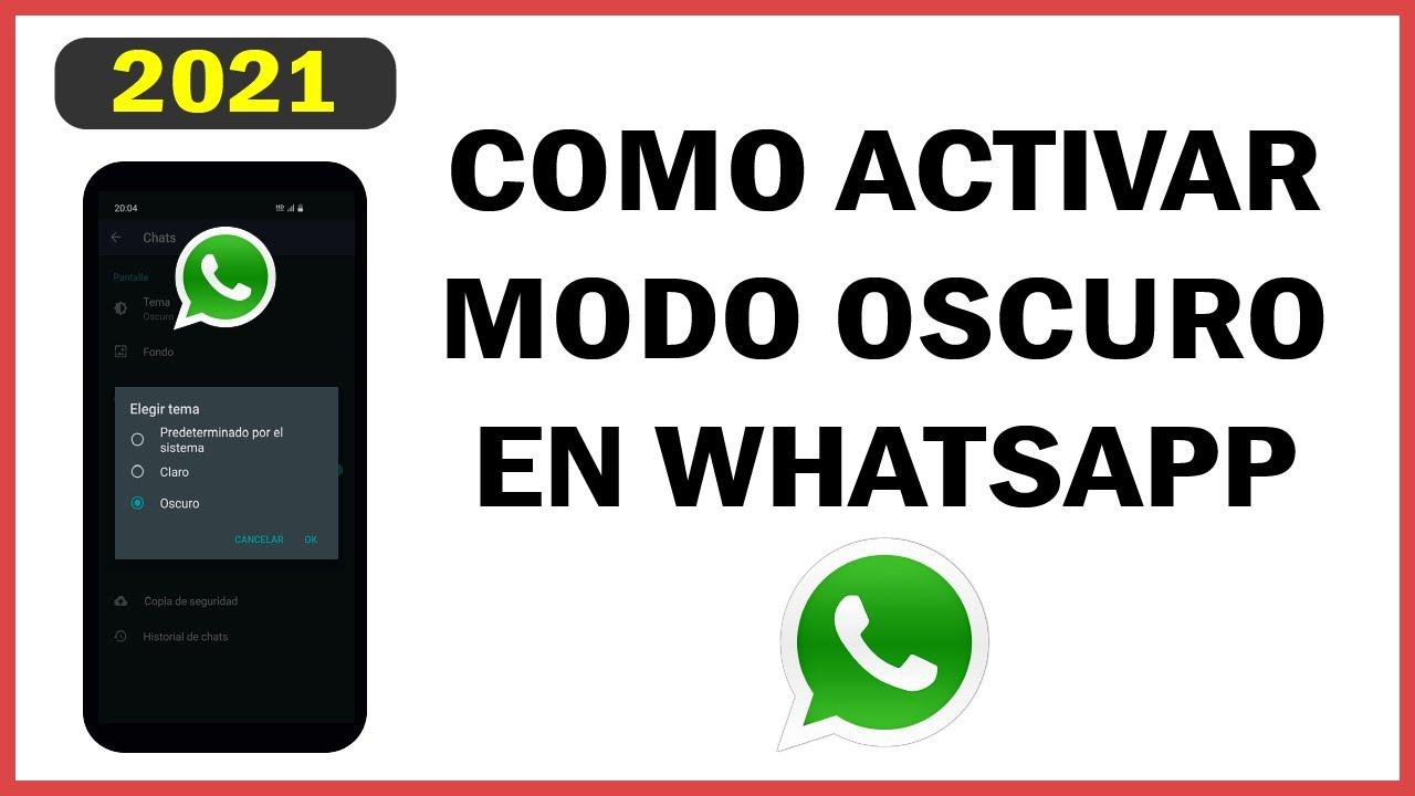Como Activar el Modo Oscuro en WhatsApp desde tu Telefono Movil/Celular, OFICIAL, 2020, 3 pasos
