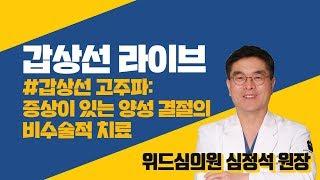 [라이브] 갑상선 고주파: 증상이 있는 양성 결절의 비…