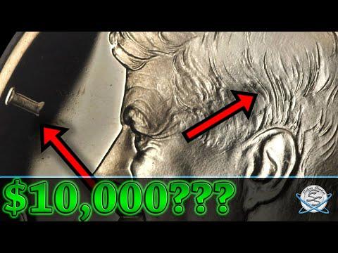 $10000 Rare Half Dollar!  Accented Hair Kennedy!