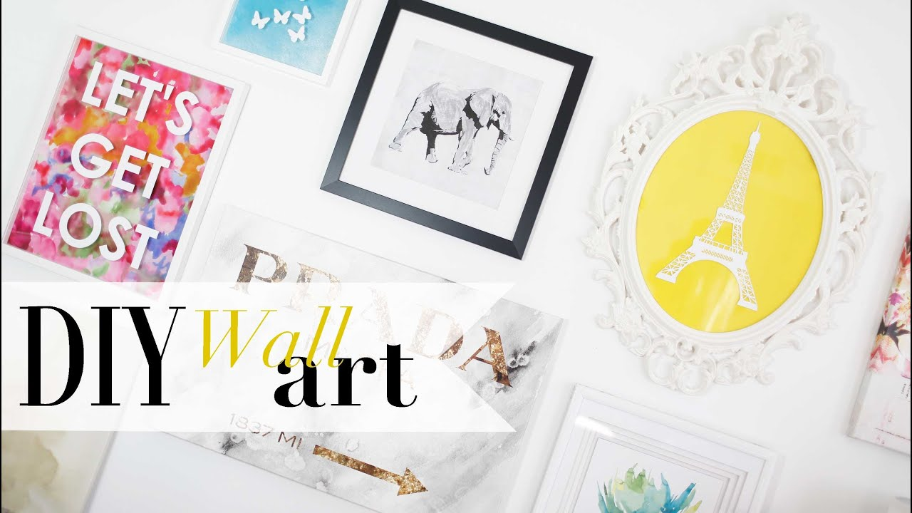 DIY Tumblr Gallery Wall Art Pinterest Inspired ANN LE YouTube