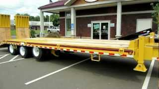 The Trailer Depot- Cam HD heavy equipment deckover with air lift axle & rear ramps