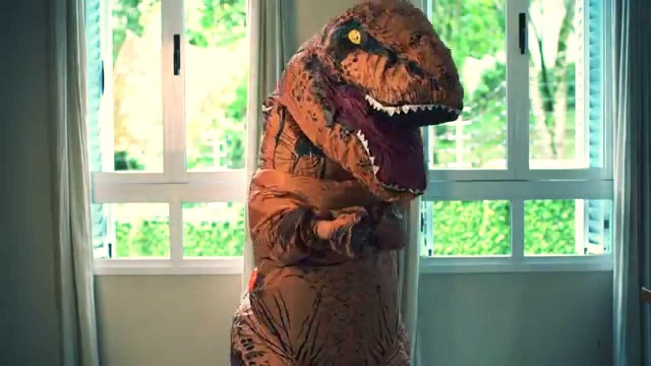 T REX Costume inflatable dinosaur costume World Park