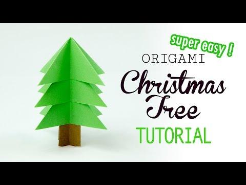 Super Easy Origami Christmas Tree Tutorial - DIY - Paper Kawaii