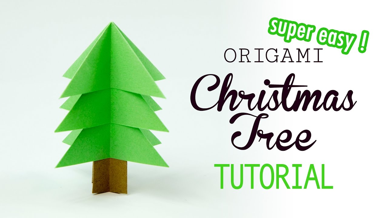 Super Easy Origami Christmas Tree Tutorial DIY Paper Kawaii
