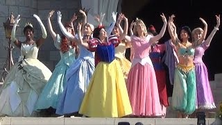 Download Video Merida Coronation at Disney's Magic Kingdom - All 11 Disney Princesses Together During Ceremony MP3 3GP MP4