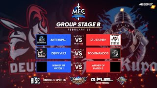MEC Europe | Group Stage B |  Top 1 Global Squads Mobile Legends Tournament