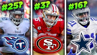 Ranking the NFL's 25 BEST Players WHO AREN'T QB's For 2020