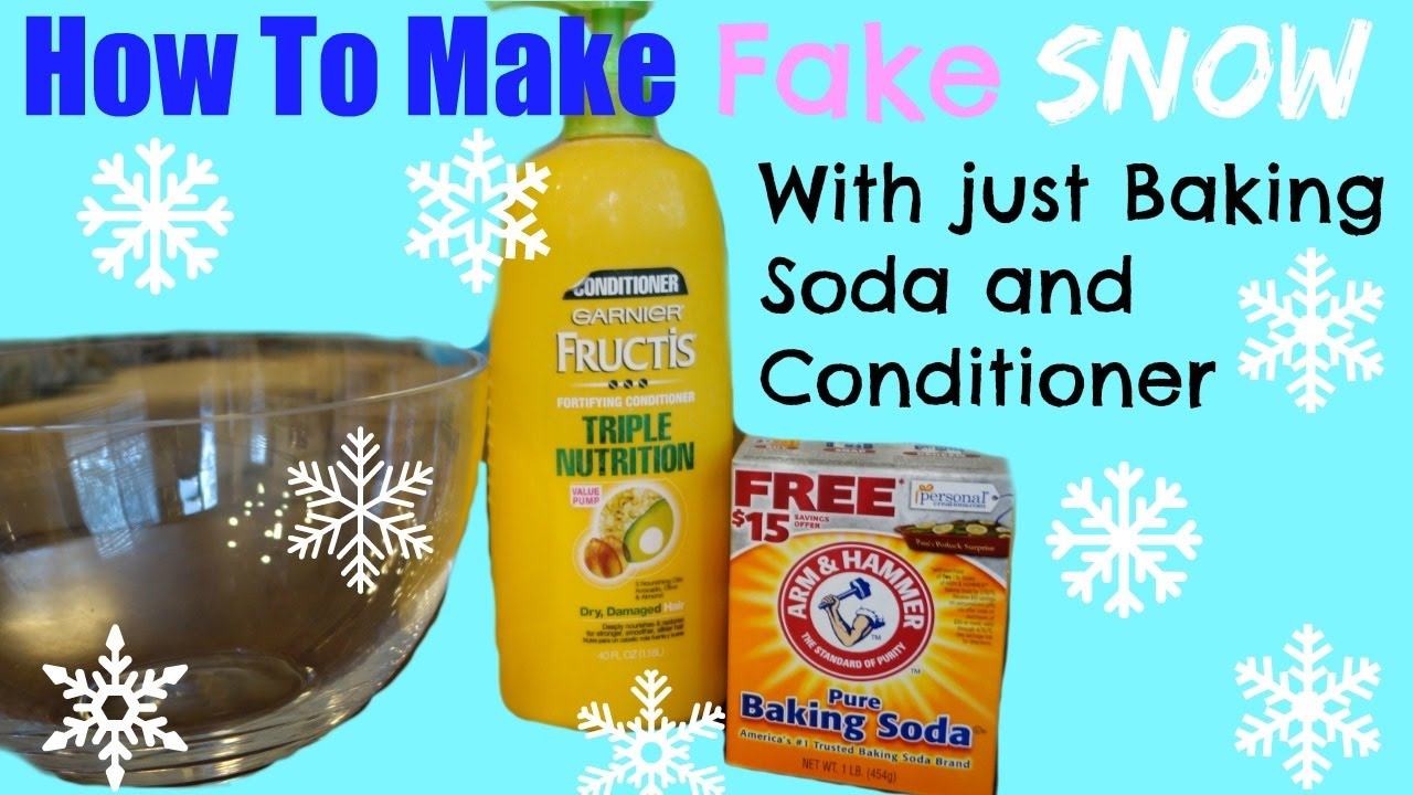 How to make fake snow with baking soda and hair