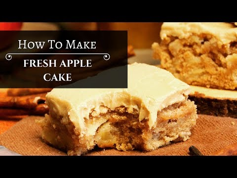 Fresh Apple Cake with Caramel Frosting | Kyndra's Kitchen