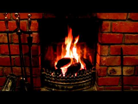 Sounds of Donegal Ireland: real time burning peat bricks in fireplace. Relaxation & meditation.