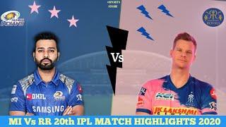 MI Vs RR 20TH IPL Match Highlights 2020 | Daily sports news | Sports Story |