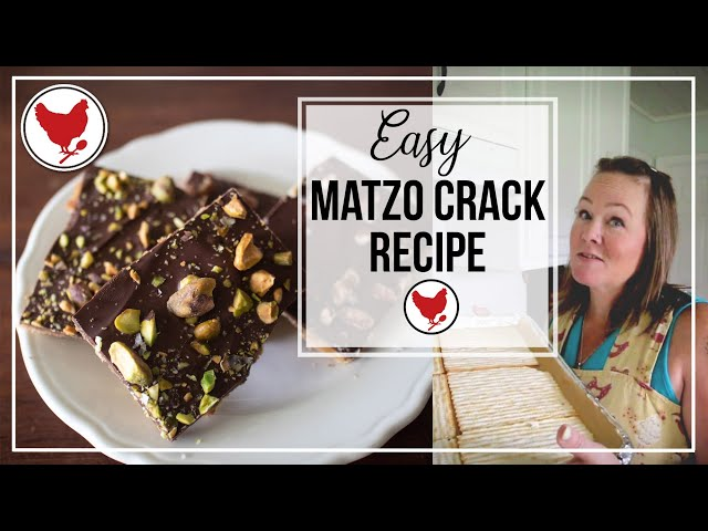 CHOCOLATE TOFFEE BARK CANDY from Matzo | Cook with Me