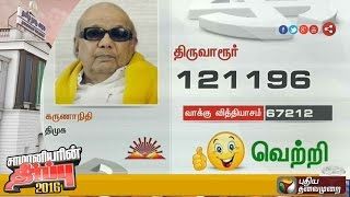 DMK leader Karunanidhi is elected to the assembly for the 13th consecutive time