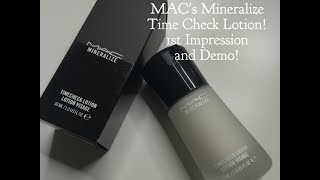 MAC's Mineralize Time Check Lotion - 1st Impression and Demo