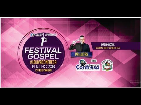 CONVITE 1º FESTIVAL GOSPEL LOUVA CONFRESA