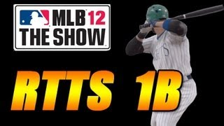 MLB 12 Road to the Show 1B - Hitting Advice and Tips [EP13]
