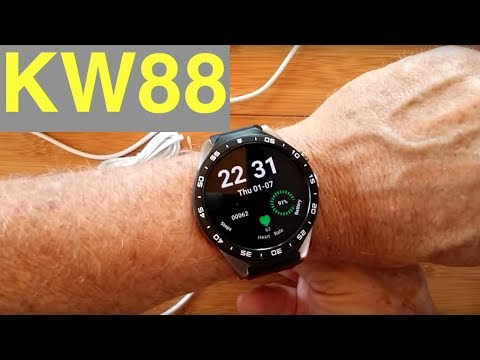 KingWear KW88 SLEEK Android 5.1 Round Smartwatch: Unboxing and 1st Look