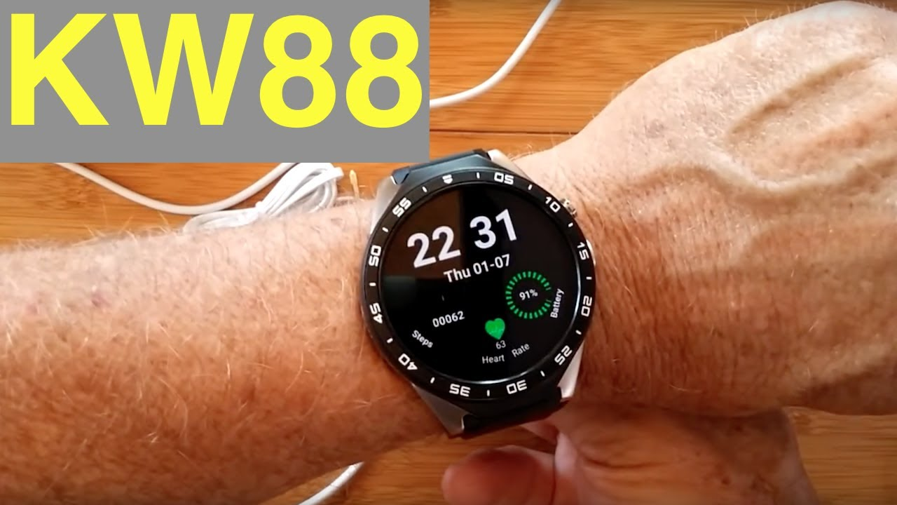 Kingwear Kw88 Sleek Android 5 1 Round Smartwatch Unboxing And 1st