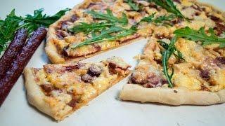 Пицца 4 фермера Рецепт теста и соуса для пиццы+классная начинка и много сыра