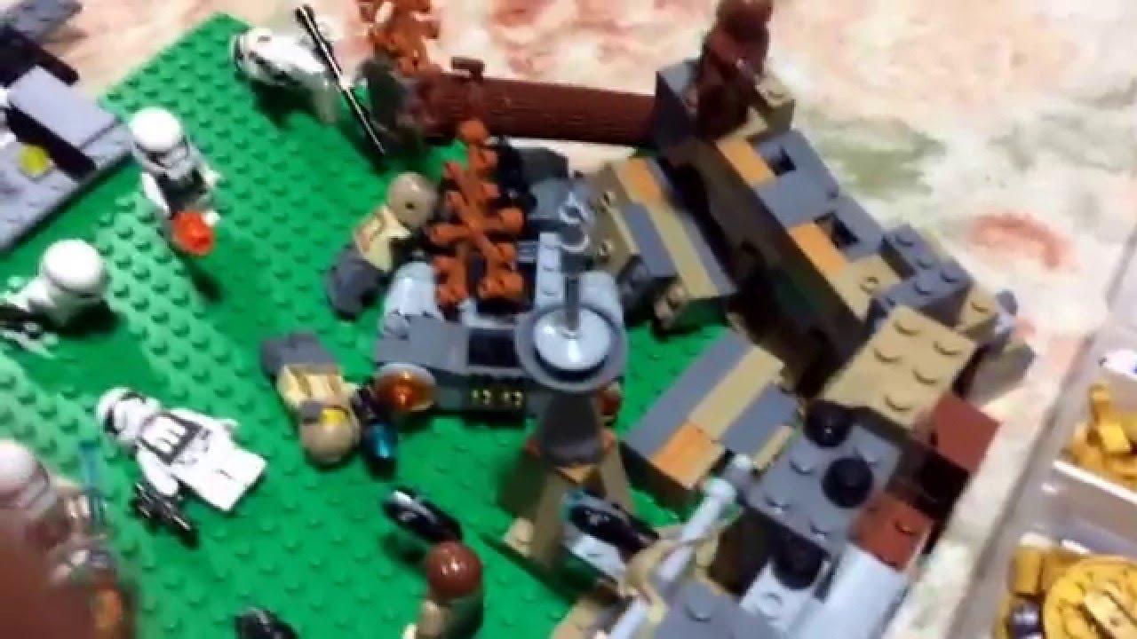 レゴスターウォーズジオラマ「バトルフロント風マッツ城の戦い」