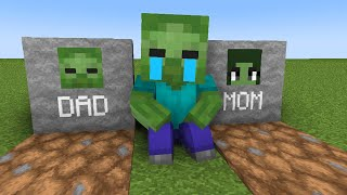 Monster School : Baby Zombie Life with Sad Story - Minecraft Animation