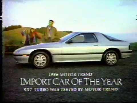 1987 Mazda Rx 7 Turbo Commercial