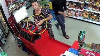 8 MOST SNEAKY THEFT TRICKS CAUGHT ON CAMERA!