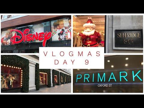 Vlogmas Day 9 - 2017 - more London, Disney Store, Primark and Christmas movies