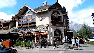 AWESOME Banff Town Streets and Shops Walking in Summer - Awe...