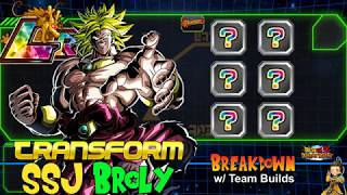 NEW LR Transformation TEQ Broly with Team Builds | Dragon Ball Z Dokkan Battle Global