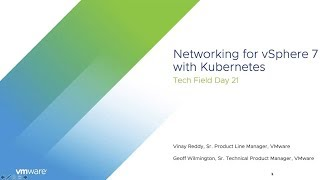 Vmware Nsx: Networking For Vsphere With Kubernetes