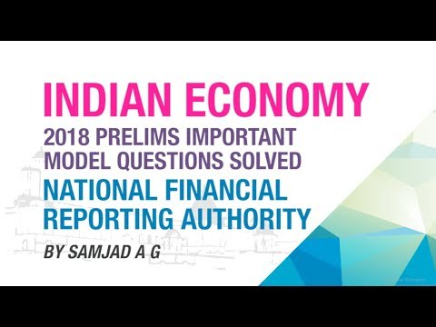 NATIONAL FINANCIAL REPORTING AUTHORITY (NFRA)   PRELIMS IMPORTANT MODEL QUESTION SOLVED   NEO IAS