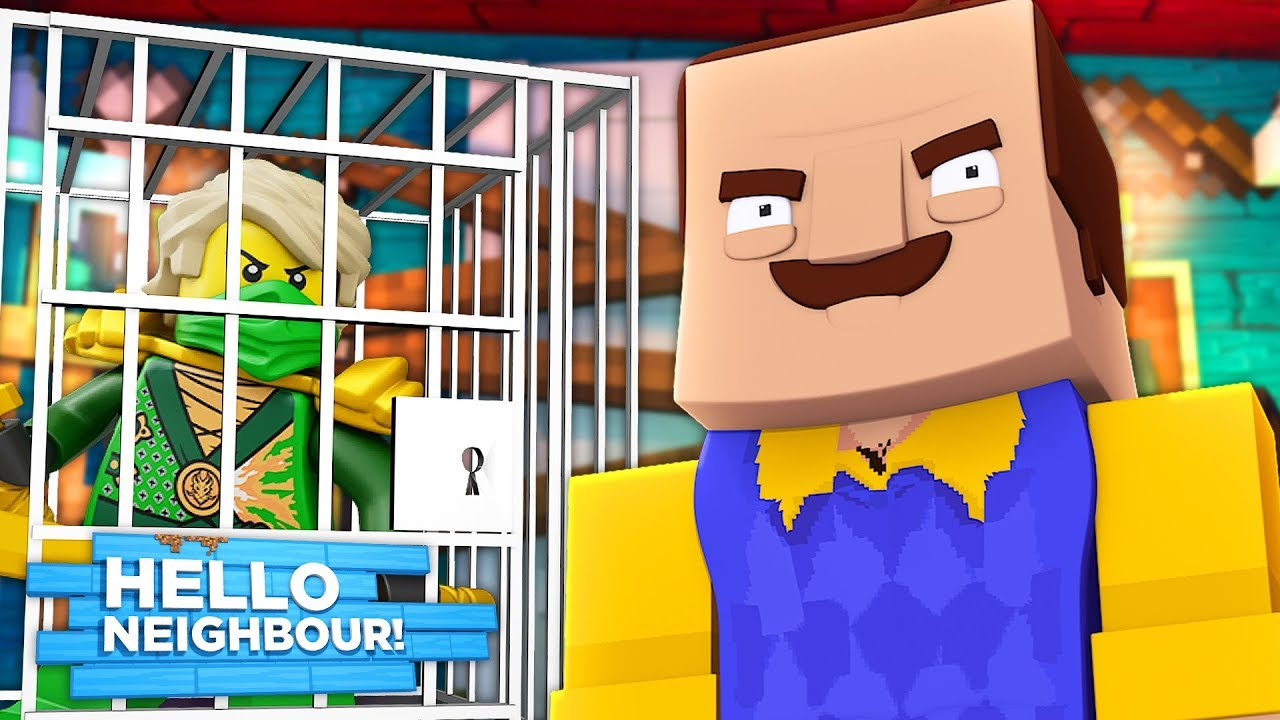 Minecraft Hello Neighbor - LEGO NINJAGO MOVIE LLOYD IS ...