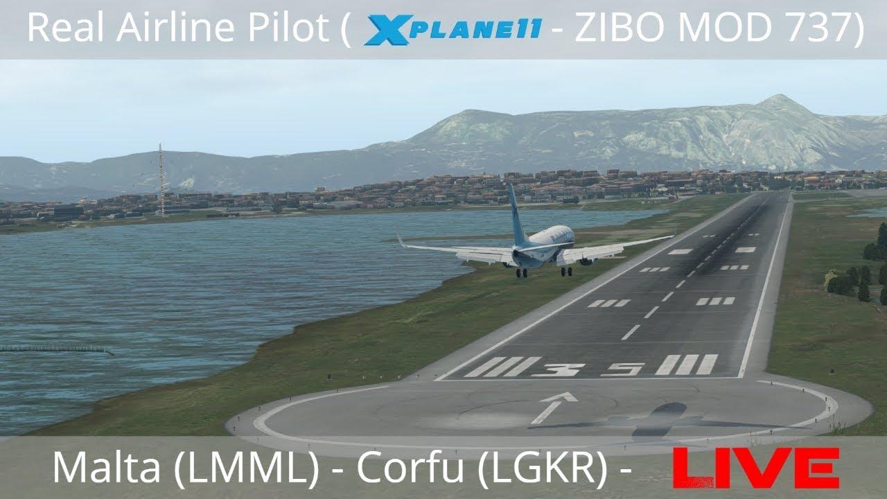 Airline Pilot LIVE (X – Plane 11 – ZIBO MOD 737) – Malta (LMML) to