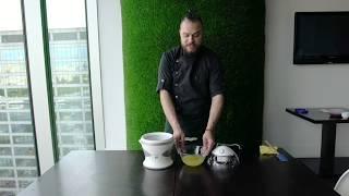 Лаймовый сорбет в мороженице Kenwood IM280: мастер-класс Ильи Саприна