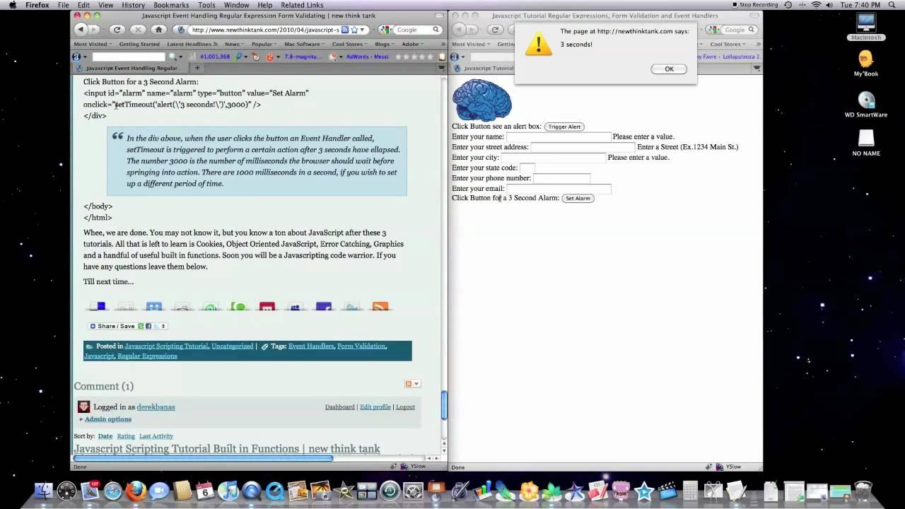 Javascript Scripting Pt 5 Event Handlers