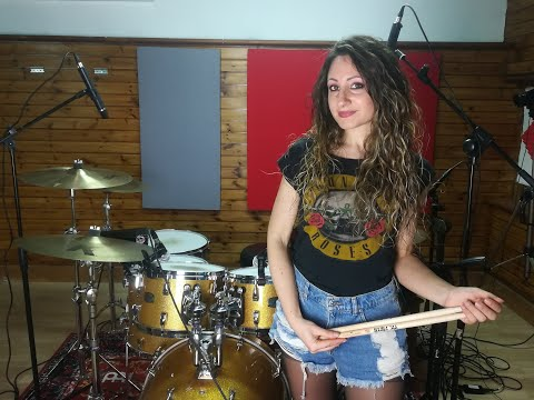 GUNS N' ROSES – WELCOME TO THE JUNGLE – DRUM COVER by CHIARA COTUGNO