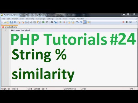 Basic PHP Programming Tutorial 24: String similarity